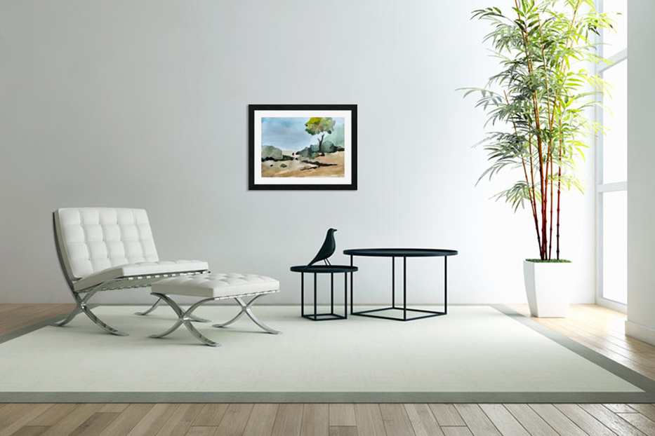 Tree sand water in Custom Picture Frame