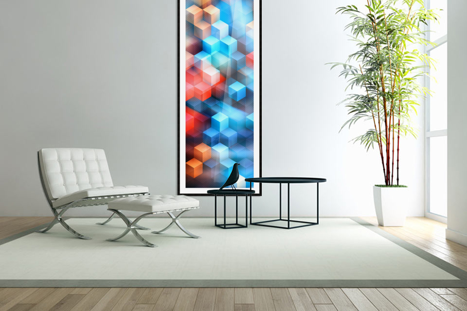 Abstract Design I   Panoramic in Custom Picture Frame