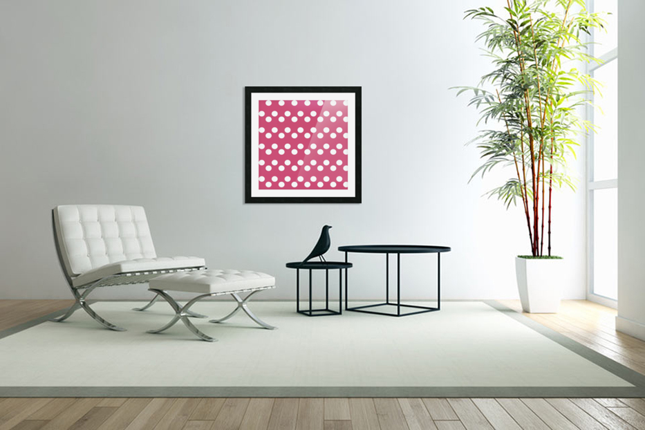 CRANBERRY Polka Dots in Custom Picture Frame