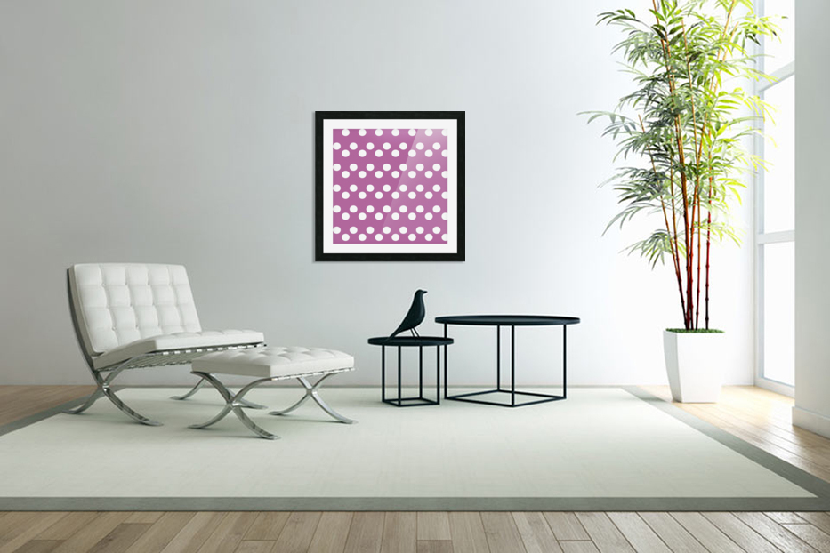 Bodacious Polka Dots in Custom Picture Frame