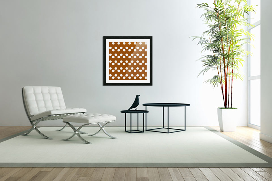 RUST Polka Dots in Custom Picture Frame