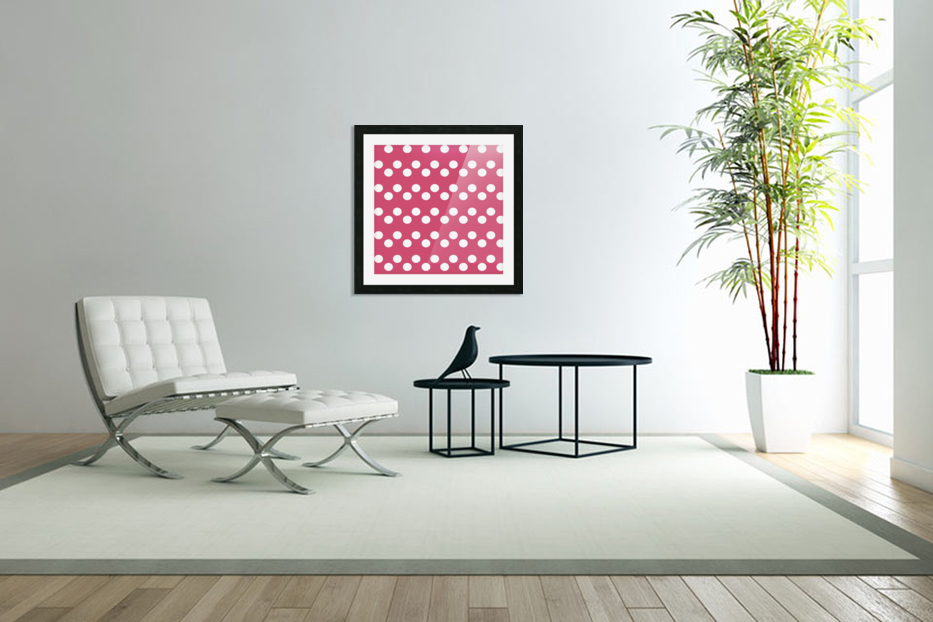 Sweet Pink Polka Dots in Custom Picture Frame