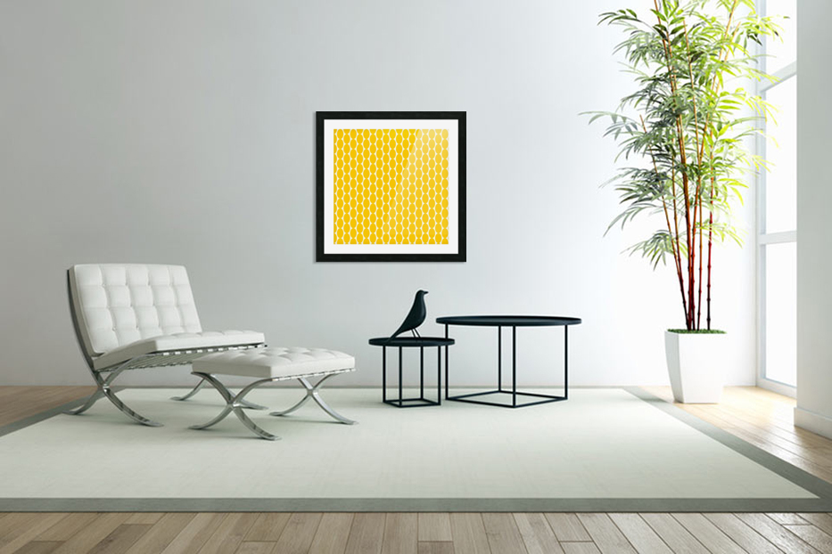 Yellow  egg shape in Custom Picture Frame