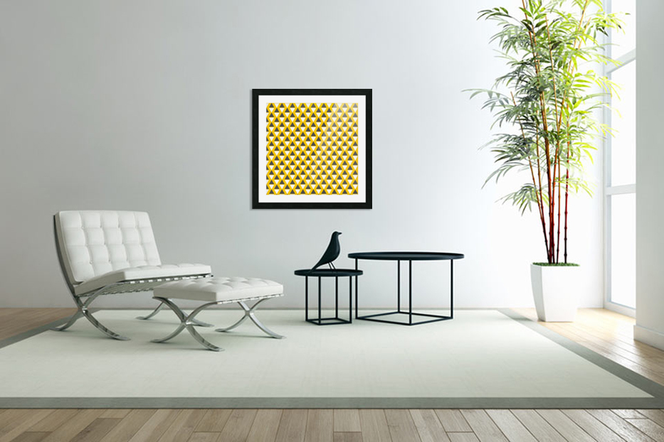 Yellow   pyramid in Custom Picture Frame