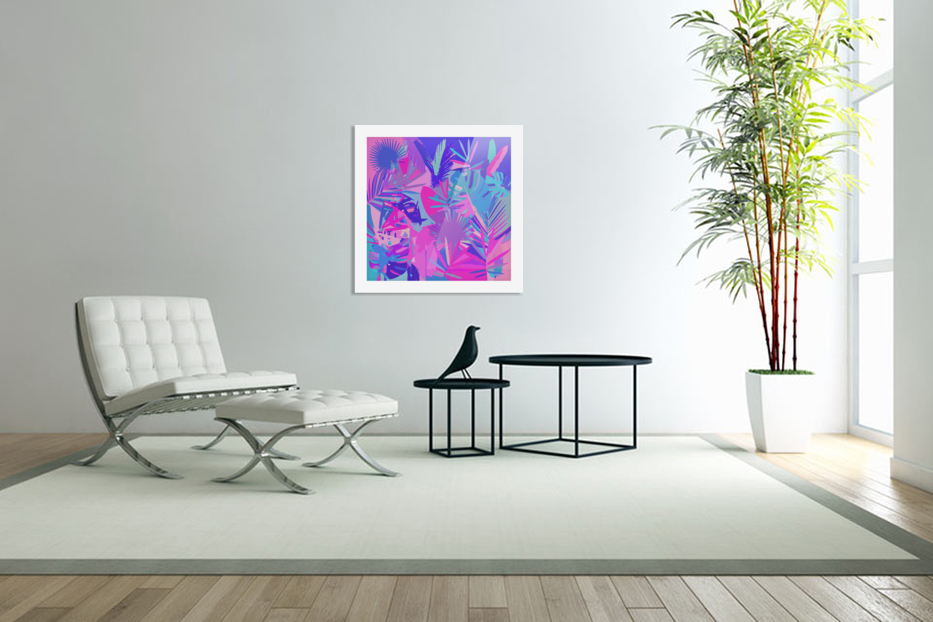 Tropical Leaves Abstract  in Custom Picture Frame