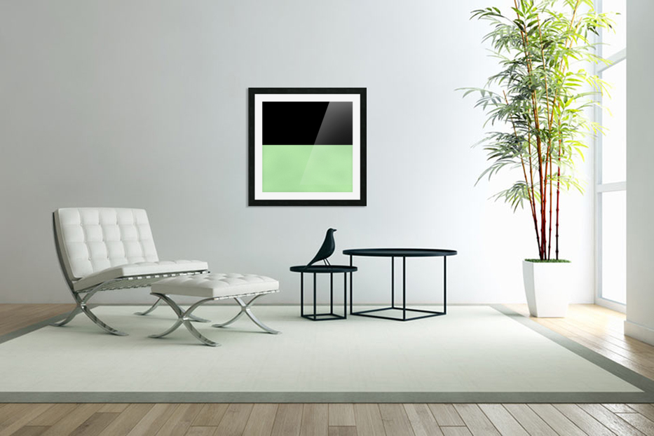 ABSTRACT GREEN GLITTER in Custom Picture Frame