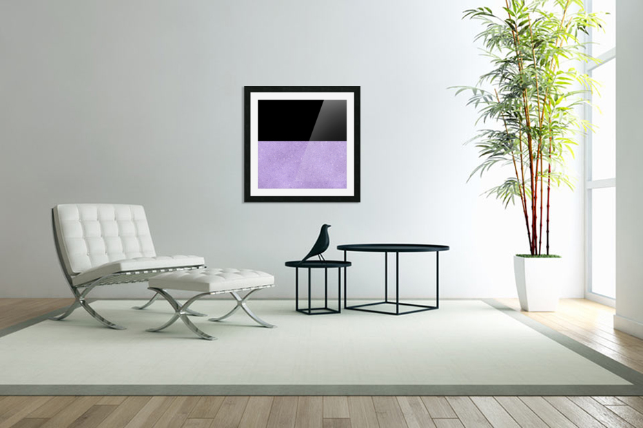 ABSTRACT PURPLE GLITTER in Custom Picture Frame