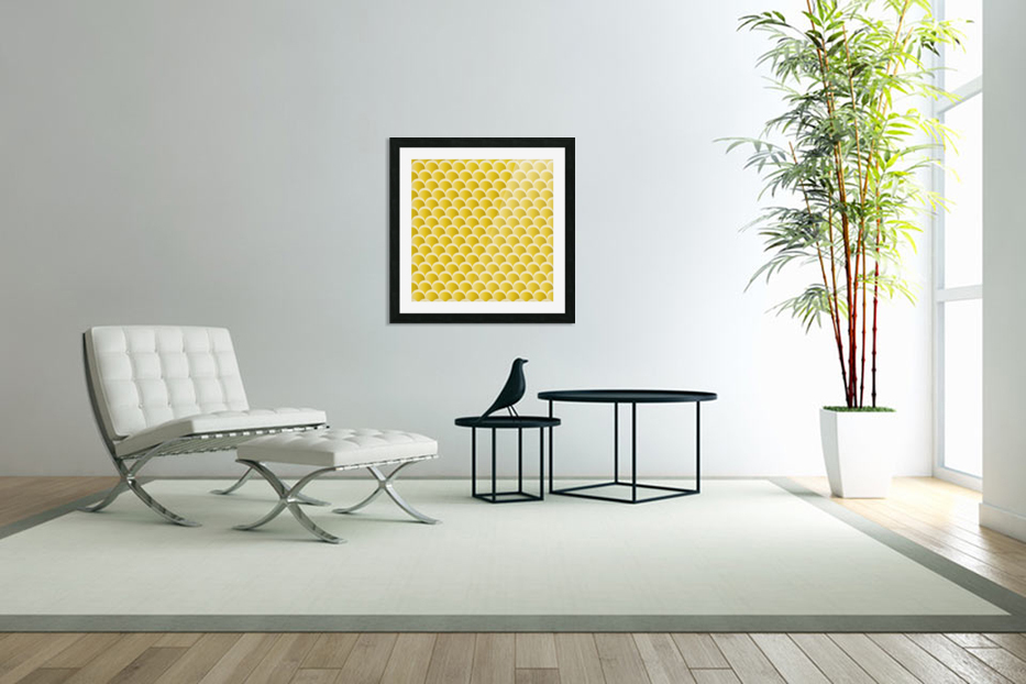 YELLOW MERMAID PATTERN in Custom Picture Frame