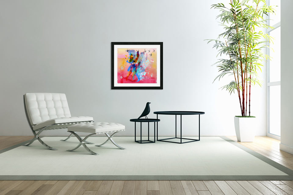 run through Duality of mind  in Custom Picture Frame