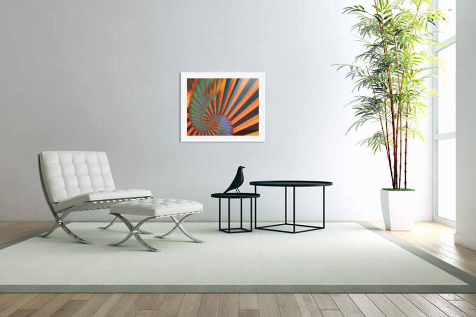 Composition in Orange Blue & Green in Custom Picture Frame