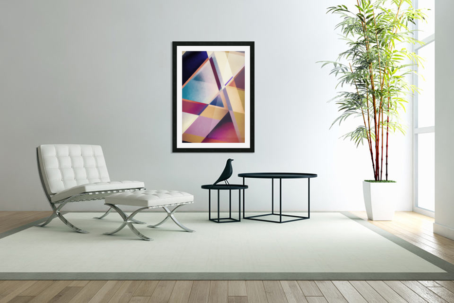 Composition des Pyramides in Custom Picture Frame