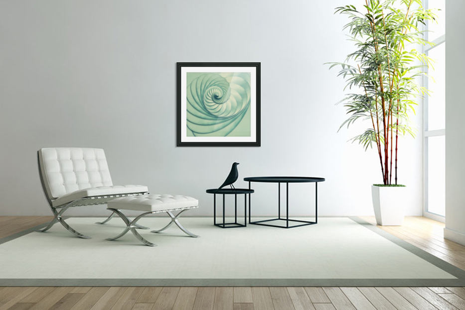 Composition in Celadon in Custom Picture Frame