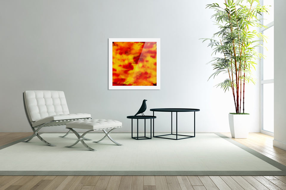 Inferno in Custom Picture Frame