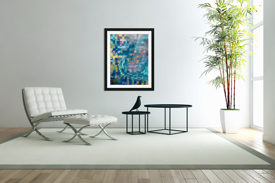 A Vision in Blue in Custom Picture Frame