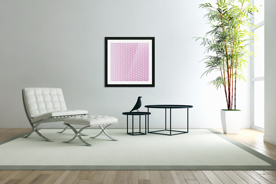 Spring Pink Heart Shape Pattern in Custom Picture Frame