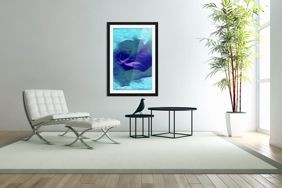 Flora of Paint in Custom Picture Frame