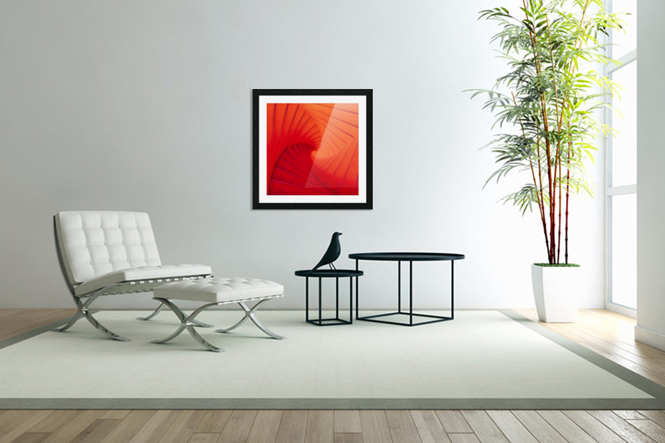 Composition Vermillon in Custom Picture Frame