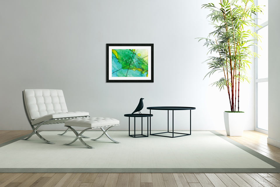 Green under the Lines in Custom Picture Frame