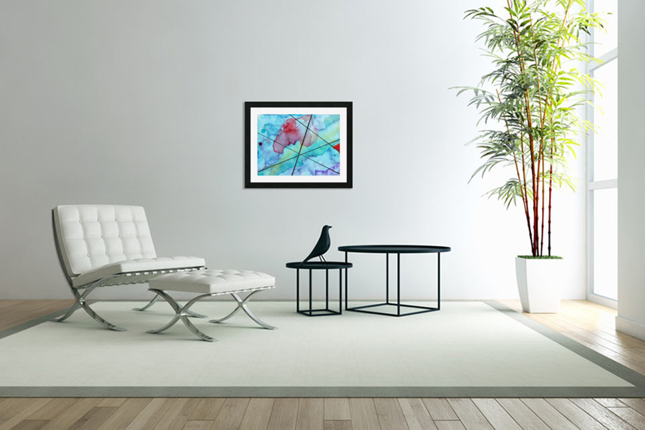 Blue under Lines  in Custom Picture Frame