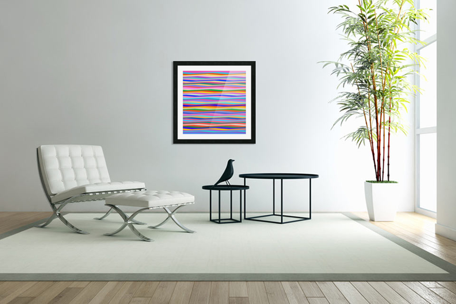 Wavy Stripes Abstract  in Custom Picture Frame