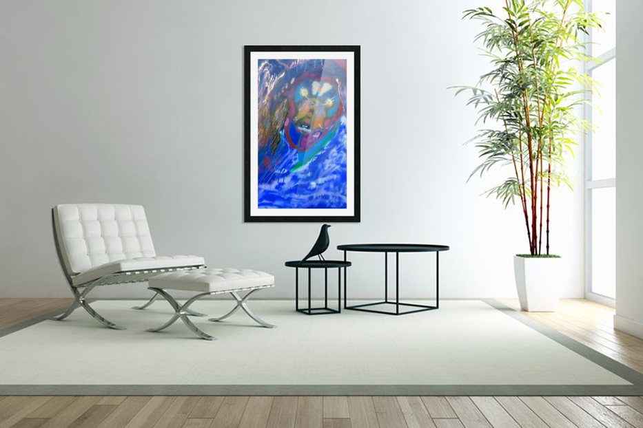 BLUE KING   in Custom Picture Frame