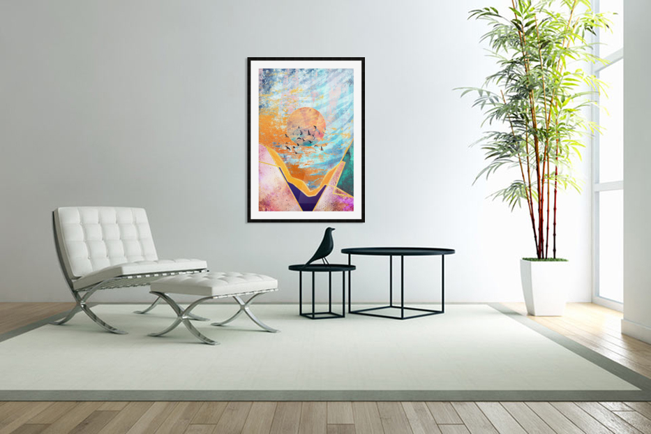 Abstract Sunset - Illustration VI in Custom Picture Frame