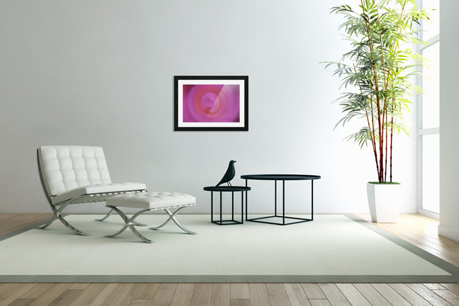 Abstract Floral Photograph - Pinkswirl in Custom Picture Frame