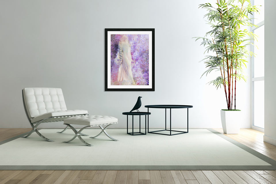 An Angel Awaits in Custom Picture Frame