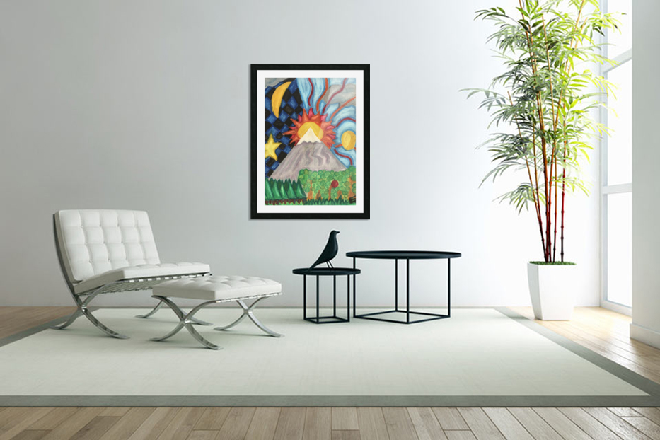 Beautiful World in Custom Picture Frame