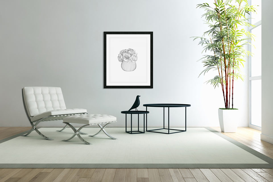 Line Drawing in Custom Picture Frame
