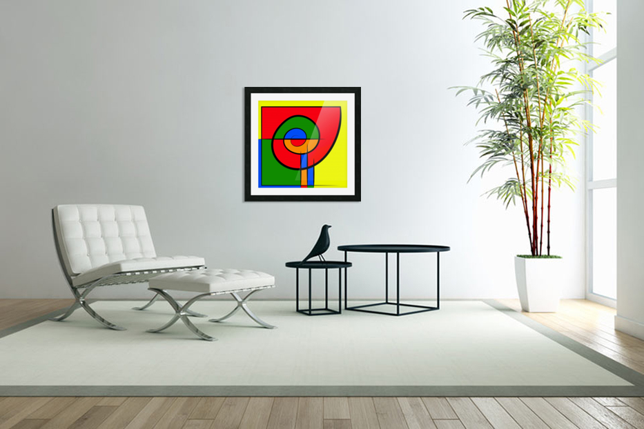 Ephanomessia - voiceful snail flower in Custom Picture Frame