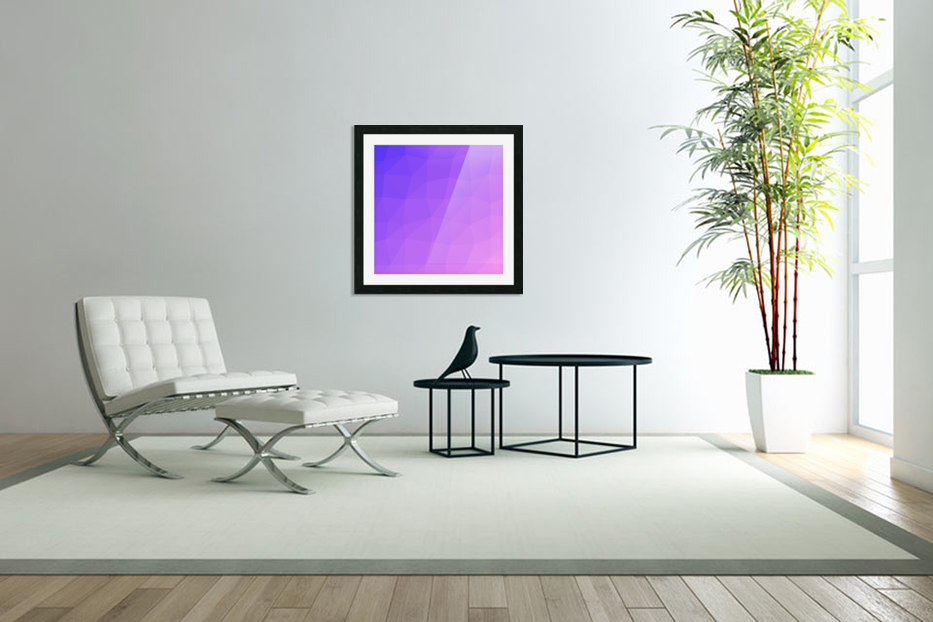 Abstract art patterns low poly polygon 3D backgrounds, textures, and vectors (16) in Custom Picture Frame