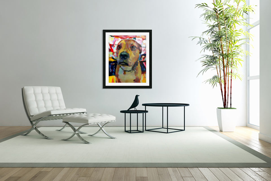 Dog Painting (5) in Custom Picture Frame