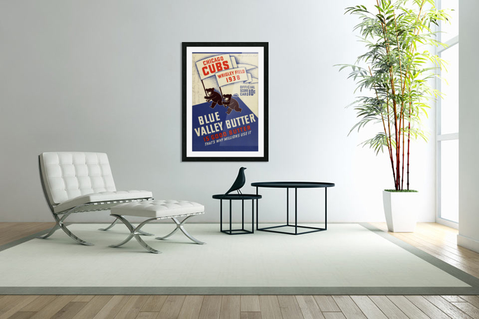 1938 Chicago Cubs Program Cover in Custom Picture Frame