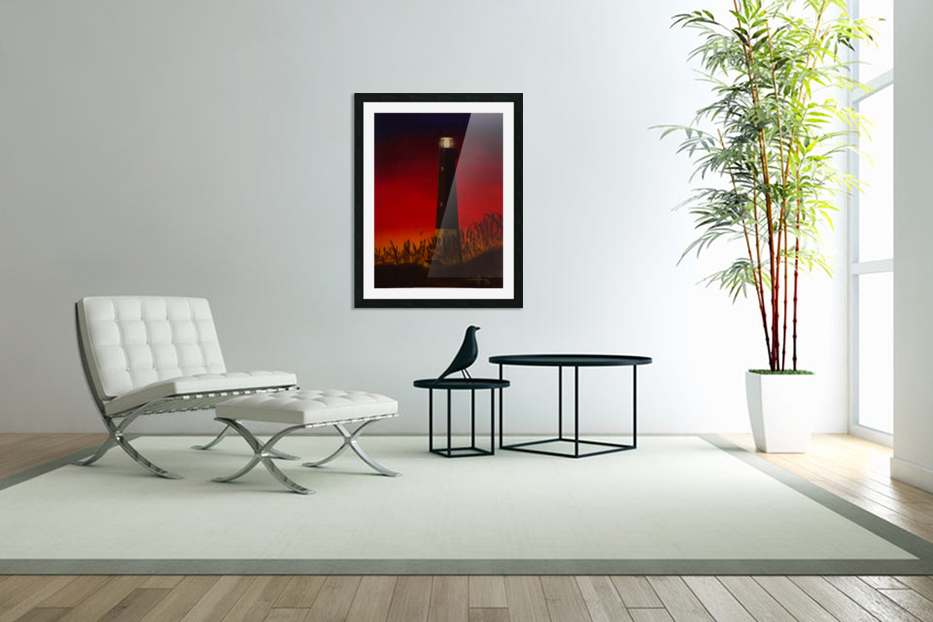 Light Too Bright in Custom Picture Frame
