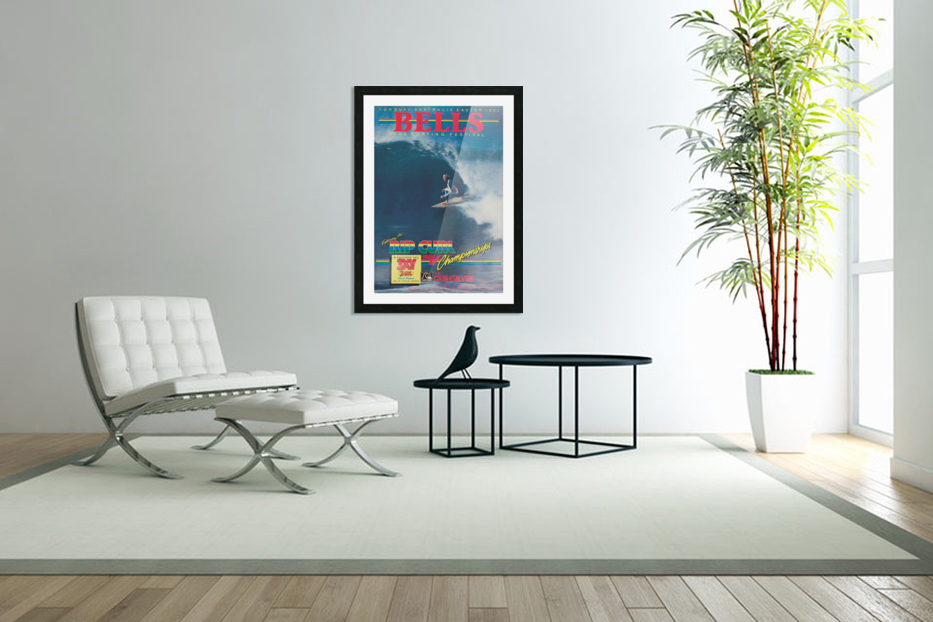 1983 RIP CURL BELLS BEACH EASTER Surfing Championship Competition Print - Surfing Poster in Custom Picture Frame