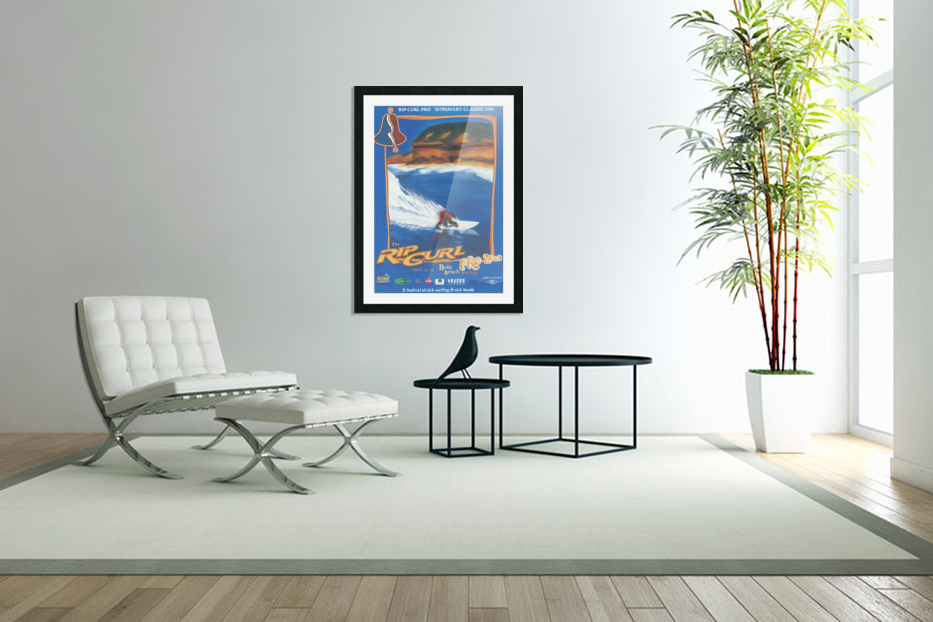 2000 RIP CURL PRO BELLS BEACH EASTER Surfing Championship Competition Print - Surfing Poster in Custom Picture Frame