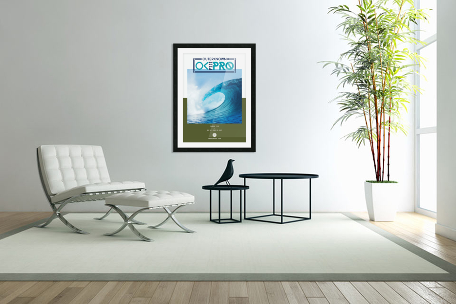 2017 OUTERKNOWN FIJI PRO Surf Competition Print in Custom Picture Frame