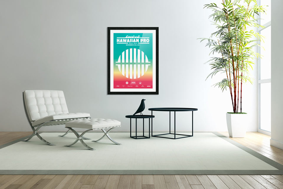 2017 HAWAIIAN PRO Surf Competition Print in Custom Picture Frame