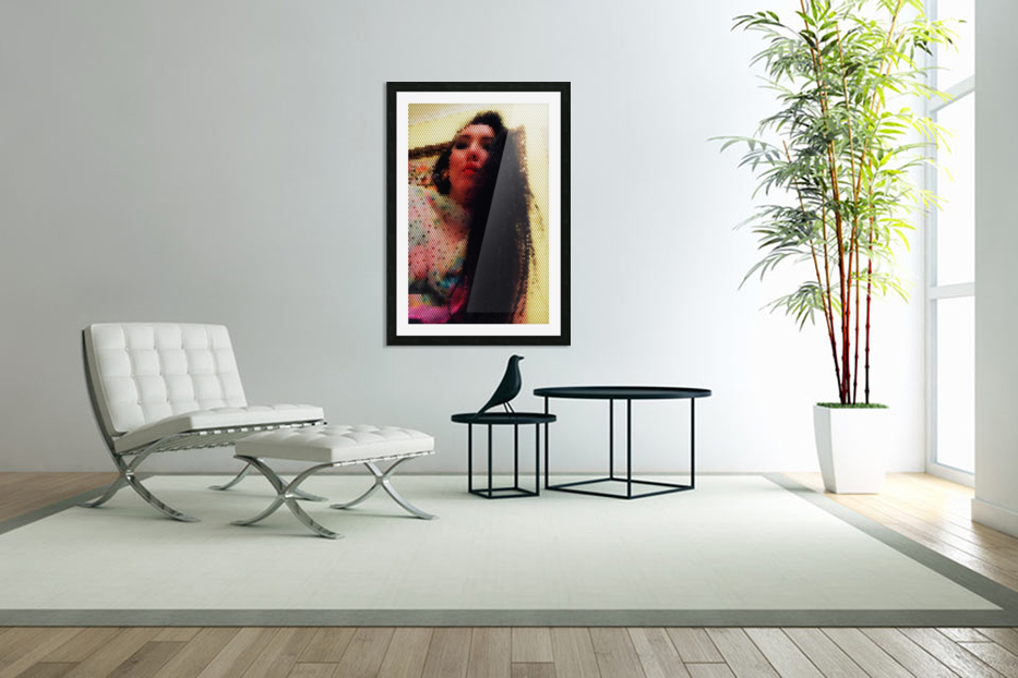 That woman with power of mind in Custom Picture Frame
