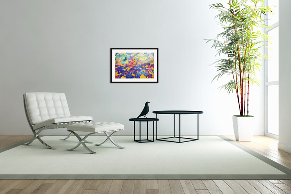Dreamy Mountain - Illustration II in Custom Picture Frame