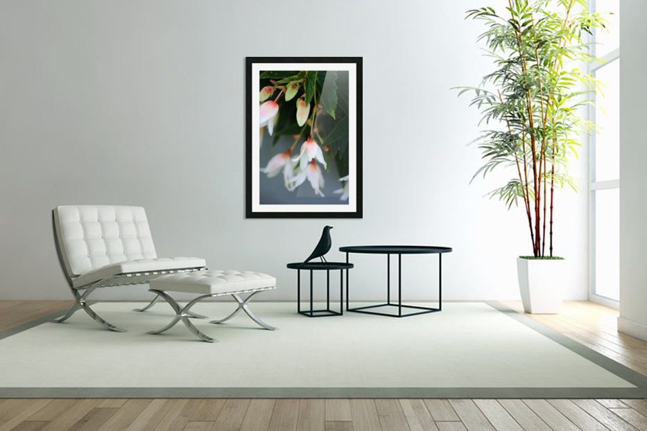 Soft Floral with Gray Wall 2 062618 in Custom Picture Frame