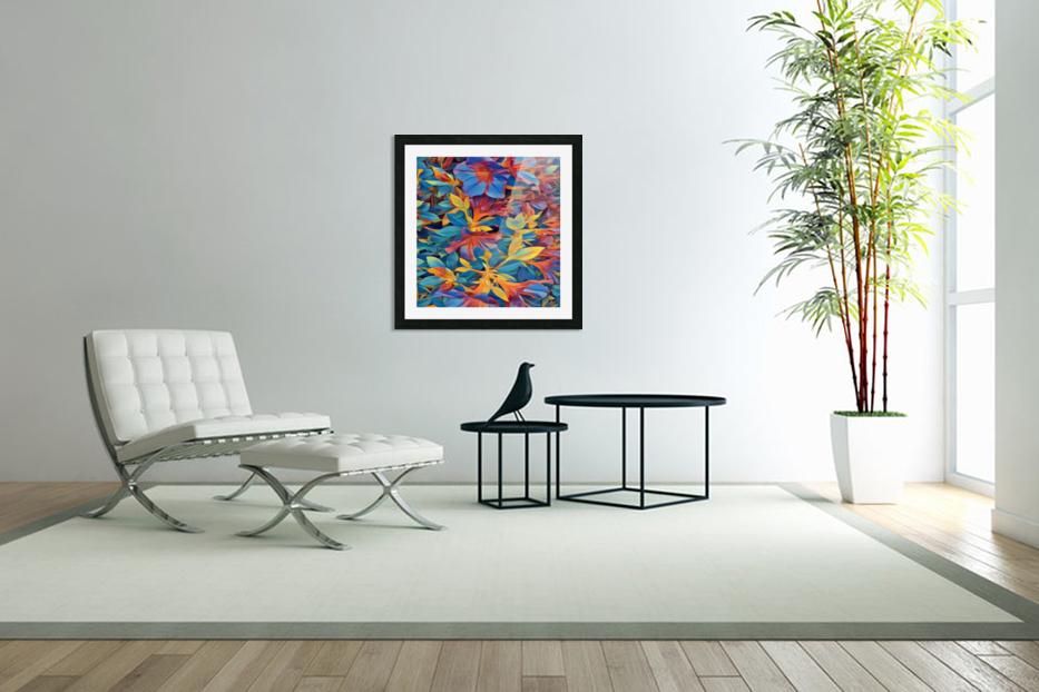 Abstract Garden in Custom Picture Frame
