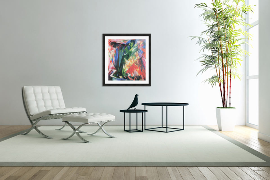Fowl by Franz Marc in Custom Picture Frame