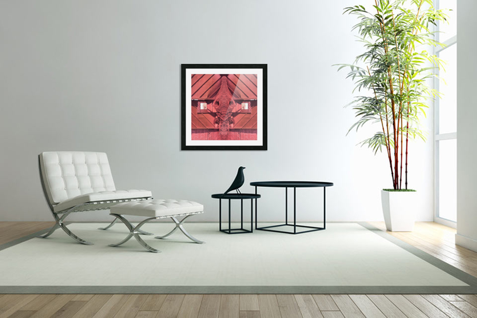 Creature of Red in Custom Picture Frame