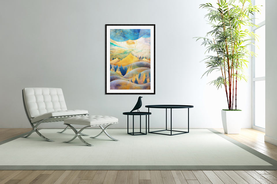 Beauty of Nature - Illustration III in Custom Picture Frame