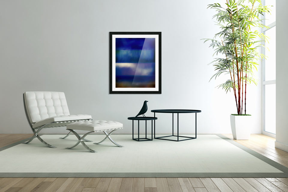 Color of the Blues in Custom Picture Frame