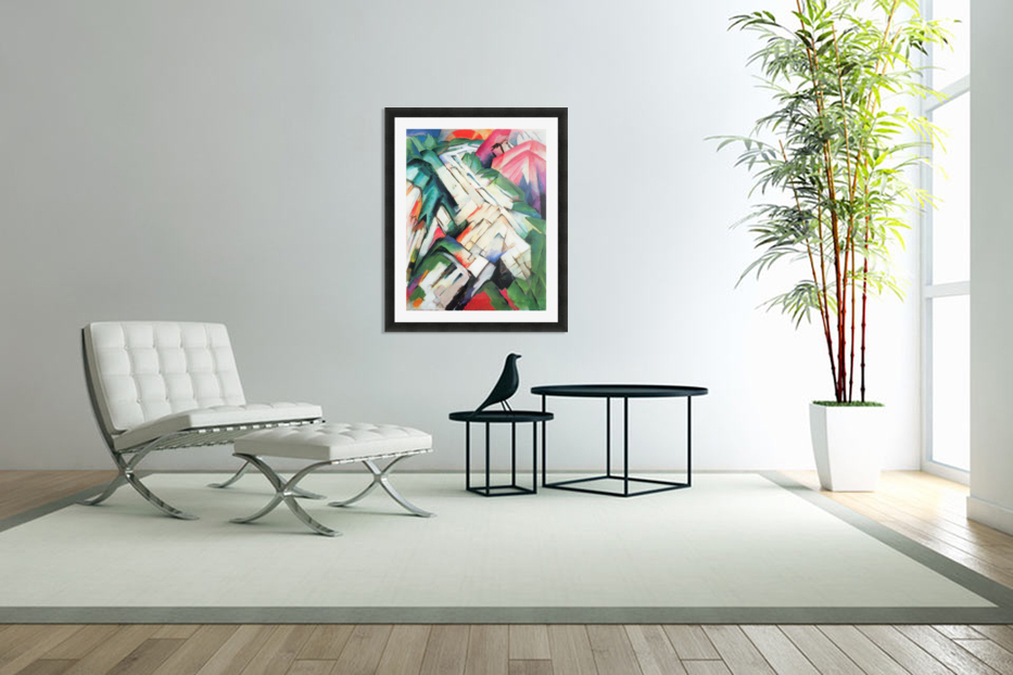 Mountains - landscape by Franz Marc in Custom Picture Frame