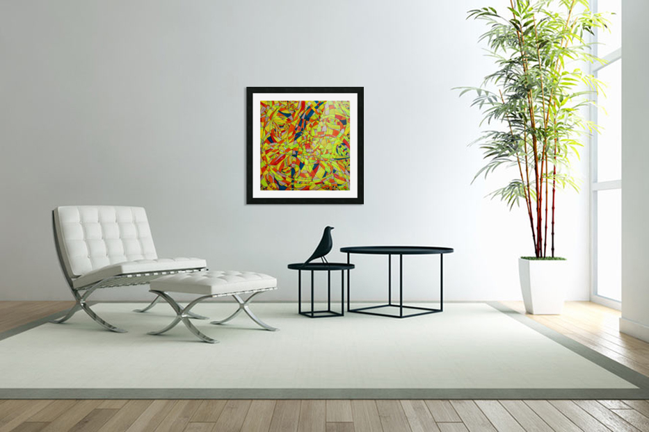 ABSTRACT SHAPES 10 in Custom Picture Frame