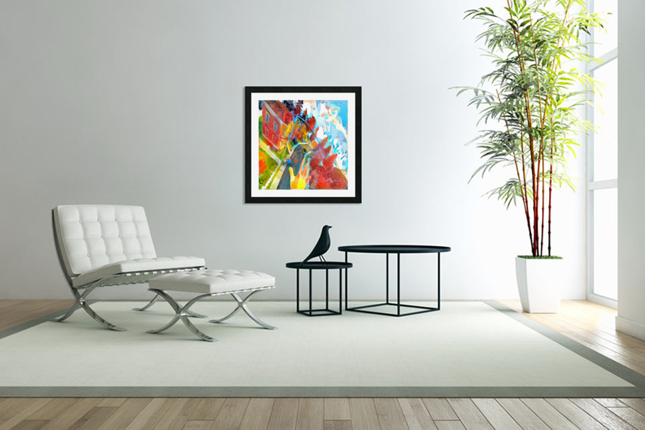 Vibrant Art in Custom Picture Frame